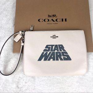 LAST CHANCE‼️Large Coach STAR WARS X Glitter Pouch